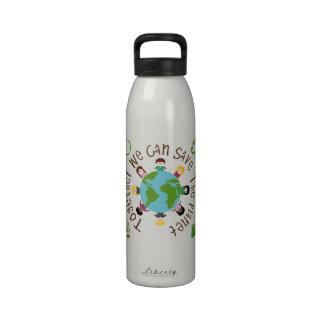 Juntos podemos ahorrar el planeta botella de beber
