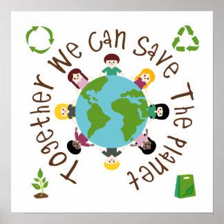 Juntos podemos ahorrar el planeta póster