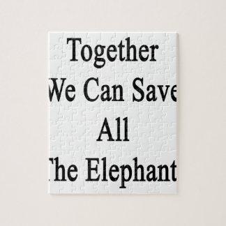 Juntos podemos ahorrar todos los elefantes puzzle
