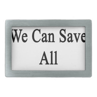 Juntos podemos ahorrar todos los monos hebilla de cinturón rectangular