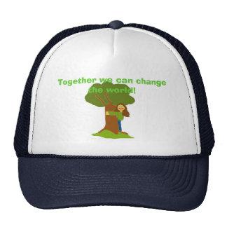 ¡Juntos podemos cambiar el mundo! Gorros Bordados