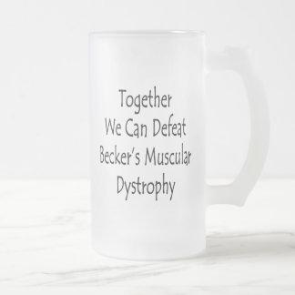 Juntos podemos derrotar la distrofia muscular de B Taza Cristal Mate