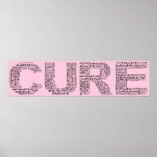 Juntos podemos encontrar una curación (el texto ne póster