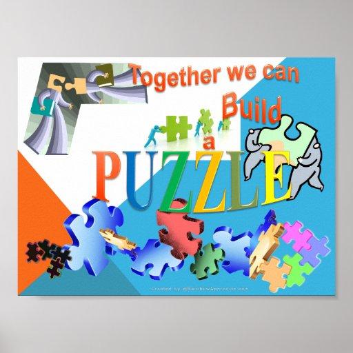 Juntos podemos hacer un rompecabezas posters