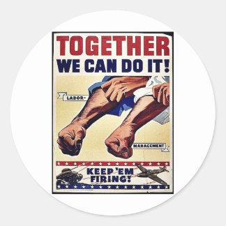 ¡Juntos podemos hacerlo! Pegatina Redonda