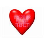 Juntos somos perfectos postal