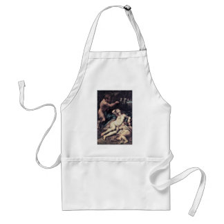 Jupiter And Antiope By Correggio Aprons