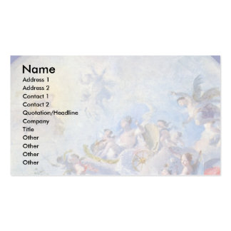 Jupiter And Antiope (Design For A Dome Fresco) Business Card Templates
