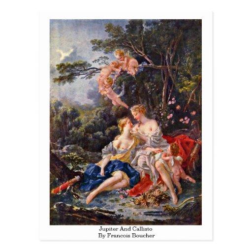 Jupiter And Callisto By Francois Boucher Postcard