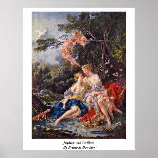 Jupiter And Callisto By Francois Boucher Poster