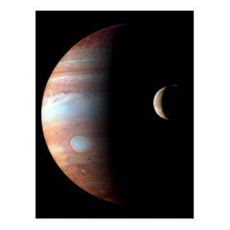 Jupiter and Crescent Moon Postcard