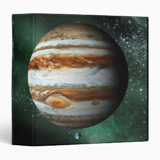 Jupiter and Earth Comparison 3 Ring Binders