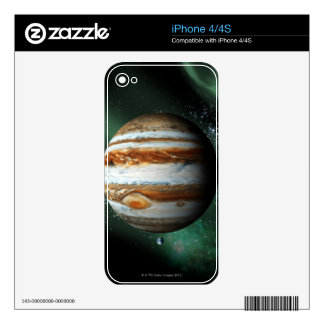 Jupiter and Earth Comparison iPhone 4 Decal