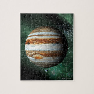 Jupiter and Earth Comparison Jigsaw Puzzle