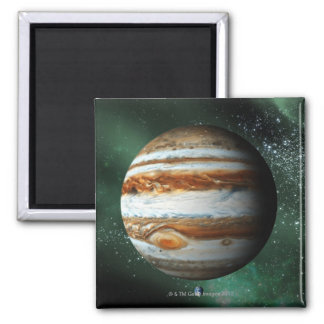 Jupiter and Earth Comparison Refrigerator Magnets