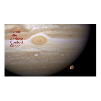 Jupiter and Ganymede Business Card Template
