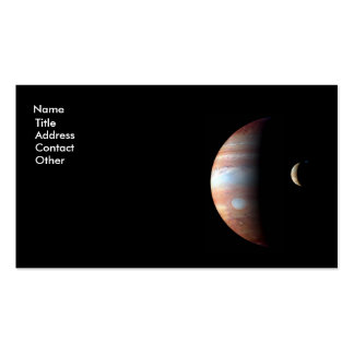 Jupiter and Io Business Card Template