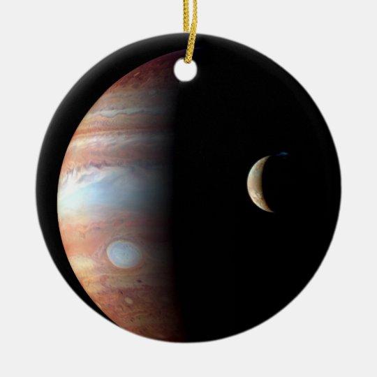 Jupiter and Io Ceramic Ornament