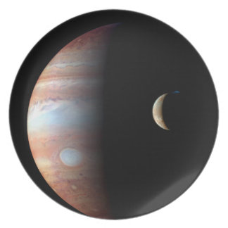 Jupiter and Io Dinner Plate