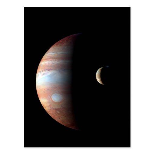 Jupiter and Io Post Card