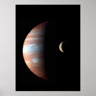 Jupiter and Io Poster