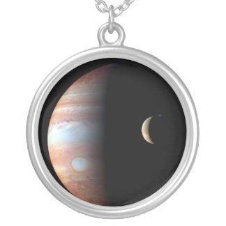 Jupiter and Io Silver Plated Necklace