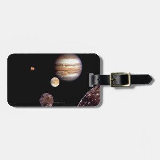 Jupiter and its Moons Luggage Tag