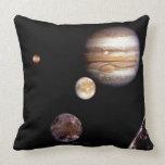 Jupiter and its Moons Pillow