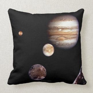Jupiter and its Moons Throw Pillow