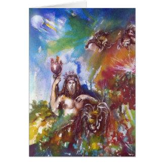 JUPITER AND LION ,Blue Sapphire Card