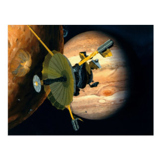Jupiter and Lo Galileo probe Postcard
