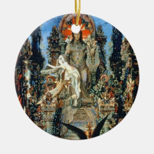 Jupiter and Semele, 1894-95 (oil on canvas) Ceramic Ornament