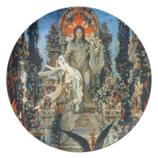 Jupiter and Semele, 1894-95 (oil on canvas) Dinner Plate
