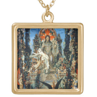 Jupiter and Semele, 1894-95 (oil on canvas) Square Pendant Necklace