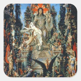 Jupiter and Semele, 1894-95 (oil on canvas) Square Sticker