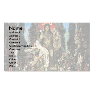 Jupiter And Semele By Moreau, Gustave Business Card Templates