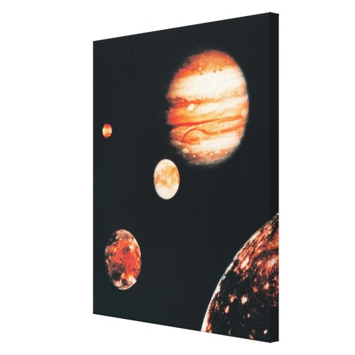 Jupiter and The Galilean Satellites Canvas Print