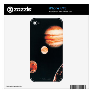 Jupiter and The Galilean Satellites Decal For iPhone 4