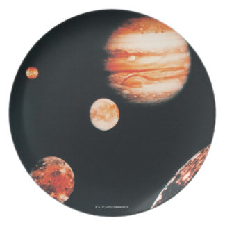 Jupiter and The Galilean Satellites Dinner Plate
