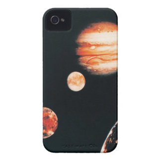 Jupiter and The Galilean Satellites iPhone 4 Cases
