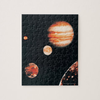 Jupiter and The Galilean Satellites Jigsaw Puzzle