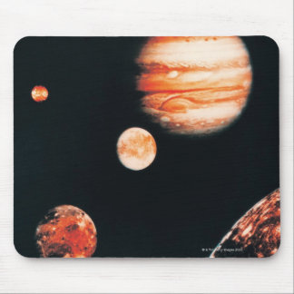 Jupiter and The Galilean Satellites Mouse Pad