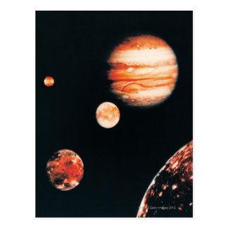 Jupiter and The Galilean Satellites Postcard