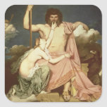 Jupiter and Thetis, 1811 Square Stickers