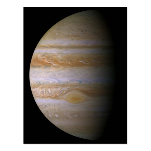 Jupiter as seen by the space probe Cassini Postcard