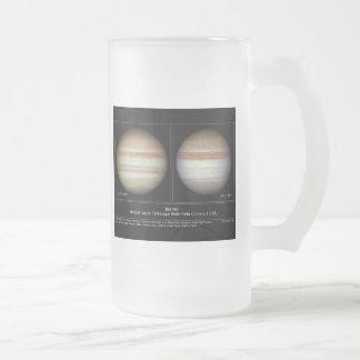 Jupiter Atmospheric Changes Frosted Glass Beer Mug