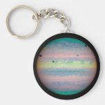 Jupiter Basic Round Button Keychain