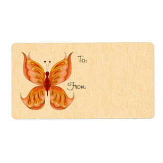 Jupiter Butterfly Gift Tag Labels