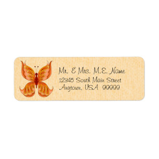 Jupiter Butterfly Return Address Labels