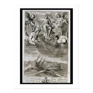 Jupiter Casts a Storm Upon the Ocean, illustration Postcard
